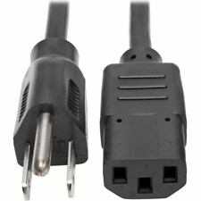 Tripp Lite 3ft Computer Power Cord Cable 5-15P to C13 10A 18AWG 3' - 125 V AC Vo