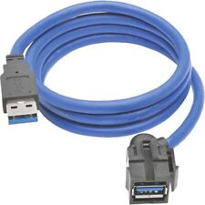 Tripp Lite USB 3.0 SuperSpeed Keystone Jack Type-A Extension Cable (M/F), 3 ft -