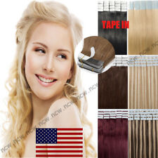 7A Tape IN 40PCS 100g Remy Human Hair Extensions Skin Weft Brazilian Blonde B767