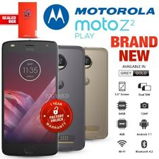 New Factory Unlocked MOTOROLA Moto Z2 Play Gold Grey Dual SIM Android Smartphone