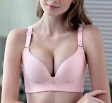 Hot!!! Womens 3/4 Cup Wire Free Detachable Straps Adjustable Bra 34 36 38 40 A B