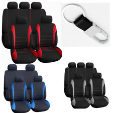 10pc Car Seat Cover Protective Pad For Auto w/Steering Wheel/Belt Pad/Head Rest