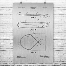 Surfboard Poster Patent Print Surfer Surfing Patent Print Wall Art