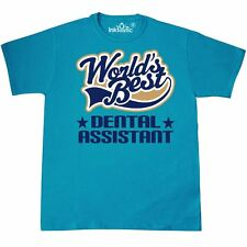 Inktastic Worlds Best Dental Assistant T-Shirt Hygienist Care Teeth Tooth Mens
