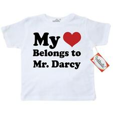 Inktastic Mr. Darcy Heart Toddler T-Shirt Mr. Jane Austen Pride And Prejudice I