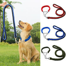 Nylon Pet Dog Martingale Collar and Leash Set Braided Rope Training for Dogs M L