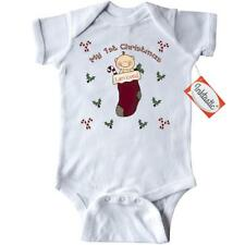 Inktastic Babys 1st Stocking Infant Creeper First Christmas Merry December 25th