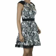 Ex Dorothy Perkins Black Pink Floral Dress Party Skater Womens Size UK 10 14 NEW