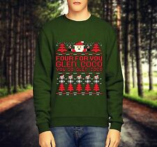 NEW MEN'S MEAN GIRLS GLEN COCO CHRISTMAS JUMPER/LONG SLEEVE CREWNECK SWEATSHIRT