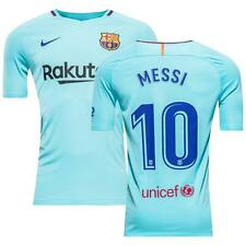 Nike Barcelona 2017/18 Men's Away Jersey Messi 10 Blue 1708