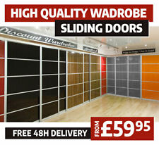 Sliding Wardrobe Doors   DIY Assembly   Solid and Mirrored   High Gloss Finish
