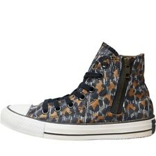 Converse Womens CT All Star Hi Zip Leopard Trainers Black/Brown/White