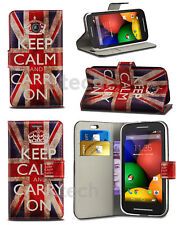 Keep Calm Carry On Design Printed Pattern Wallet Book Case (Nokia Models)