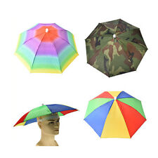 Outdoor Foldable Sun Umbrella Hat Golf Fishing Camping Headwear Cap Head Hat mu6