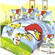 Angry Birds Cartoon kid Single King Bed Quilt/Doona/Duvet Cover Set Pillowcase