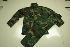 Army Military Woodland Camo Jacket and Pants Combat Uniform Camouflage Suit