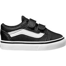 Vans TD Old Skool V Black Leather Infant Trainers Shoes