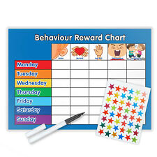 BEHAVIOUR REWARD TRAINING REWARD CHART WITH PEN & STAR STICKERS - B