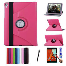 360 Rotating Leather Folio Case Cover + Screen Protect For Google Nexus 9 Tablet