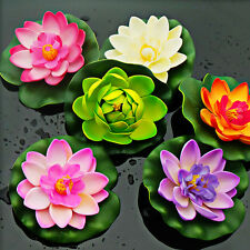 Artificial Lotus Water lily Floating Flower Garden Pool DIY Plant Ornament Decor