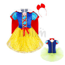 Halloween Girls Baby Snow White Princess Party Dress Costumes Hair Hoop Cosplay