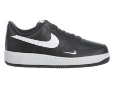 NEW MENS NIKE AIR FORCE 1 LOW BASKETBALL SHOES TRAINERS BLACK / WHITE / WHITE