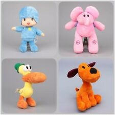 New set of 4pcs PRECHOOL POCOYO & Friends Loula Elly Pato Stuffed Plush dolls