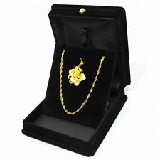 Large Black Velvet Necklace Chain Presentation Jewelry Organizers Gift Boxes JR1