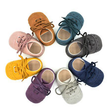 Kids Infant Baby Soft Sole Suede fabric Shoes Boys Girls Toddler Moccasin 0-18M