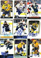 Nashville Predators SIGNED autographed NHL Card YOUR CHOICE Roman Josi, Forsberg