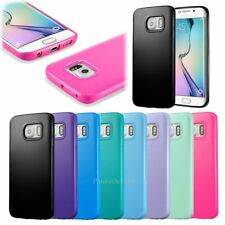 Silicone Bumper Gel Rubber Soft Jelly Cover TPU Skin Case For Samsung Galaxy S6