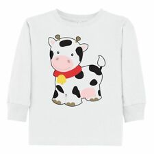 Inktastic Cow Toddler Long Sleeve T-Shirt Friendly Farm Animal With Bell Light