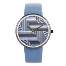 Creative Staggered Strips Hollow Dial Women Quartz Watch PU Leather Strap Watch