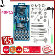 40 Pc METRIC Tap & Die Set Bolt Screw Removal Extractor HD Puller Tool Set EK