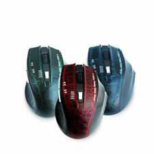 6 Button Wireless Gaming Mouse 1600 DPI for Laptop Tablet PC Optical Mice