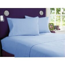 Sky Blue Solid Bed Sheets Collection! 1000TC Egyptian Cotton-Select Size&Item