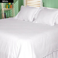 White Striped Bed Sheets Collection! 1000TC Egyptian Cotton-Select Size&Item