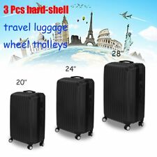 BEST Set of 3 piece travel luggage wheel trolleys suitcases bag hard shell S/M/L