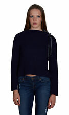 Sogi Funnel Neck with Leather Sweater