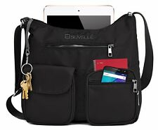 Suvelle Carryall RFID Travel Crossbody Shoulder Bag Multi Pocket Nylon Purse NEW