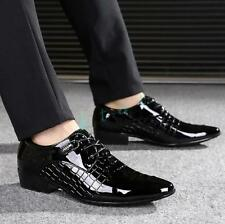 2018 Mens Dress Wedding Business Formal Oxfords patent  leather Shoes Brogues