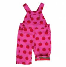 TOBY TIGER PINK APPLE DUNGAREES, 100% COTTON. 0-3 YEARS, BNWT!