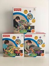 Fisher Price Little People Floor Puzzle 24 Pcs Wheelies Vehicle Farm/Zoo/Town