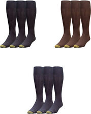 Gold Toe Men's Premium Over the Calf Canterbury Dress Socks, 3 Colors, 3 Pairs