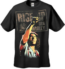 ZION ROOTSWEAR BOB MARLEY RISE UP MEN'S TEE BLACK T-SHIRT