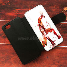 Iron man Wallet iPhone cases Water color Samsung Wallet Leather Phone Case