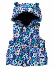 NWT Gymboree BUTTERFLY GARDEN Floral Hooded Ears Puffer Vest size 18-24 months
