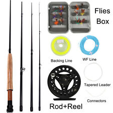 2017 New Fly Fishing Rod Set Rod and Reel Combo Floating Line Flies and Box Kits