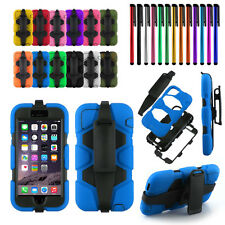 For Apple iPhone 6 6s Case Cover Belt Clip Holster w/ Open Up Screen Protector