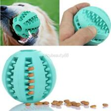 US Pet Dog Puppy Cat Rubber Ball Chew Treat Training Dental Teething Cleaner Toy